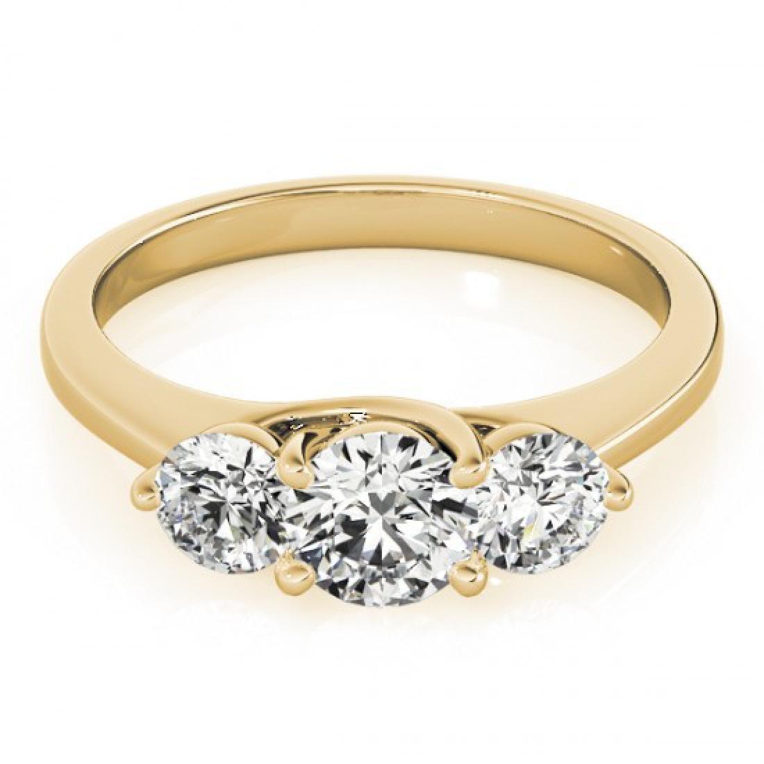 0.5 CTW Certified VS/SI Diamond 3 Stone Ring 14K Yellow