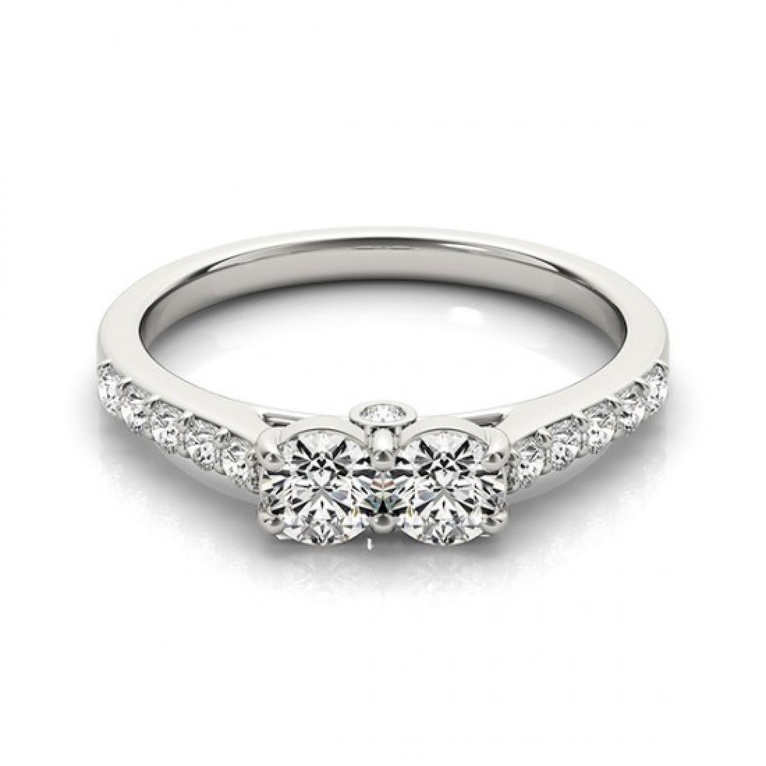 1.5 CTW Certified VS/SI Diamond 2 Stone 2 Stone Ring