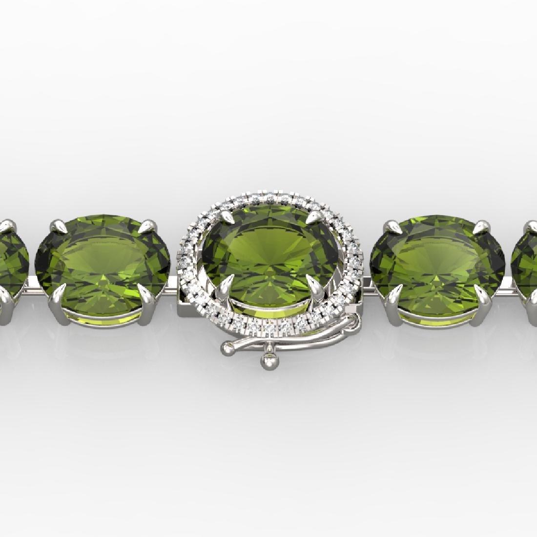 65 CTW Green Tourmaline & Micro VS/SI Diamond Halo