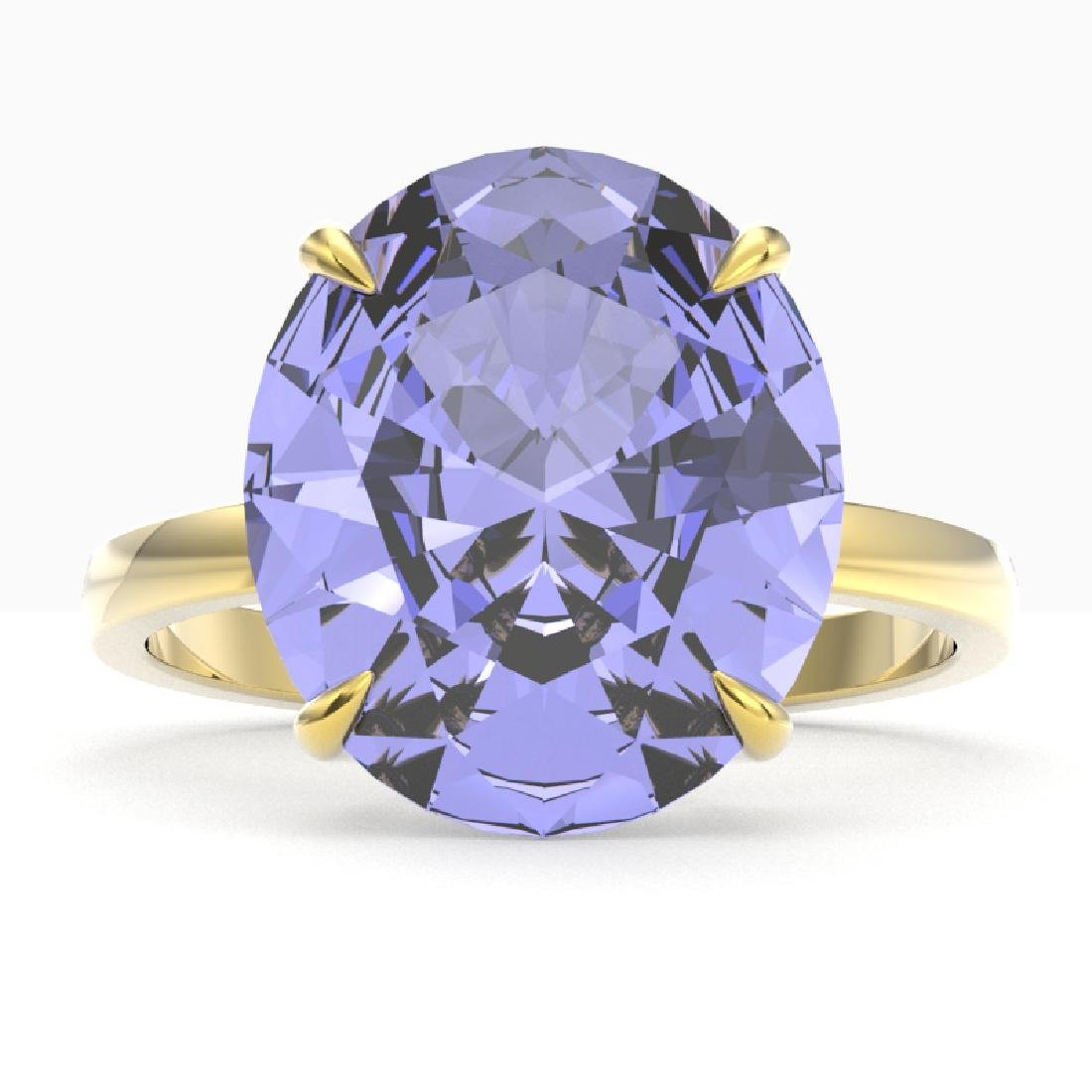 9 CTW Tanzanite Designer Solitaire Engagement Ring 18K