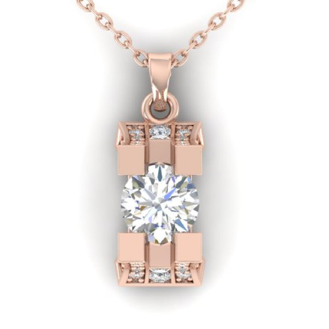 1.15 CTW Certified VS/SI Diamond Art Deco Stud Necklace