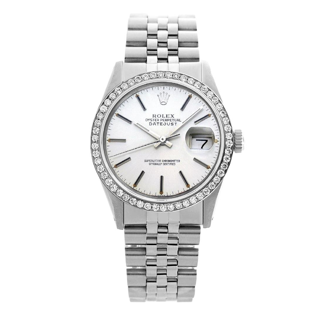 Rolex Men's Stainless Steel, QuickSet, Index Bar Dial - 2