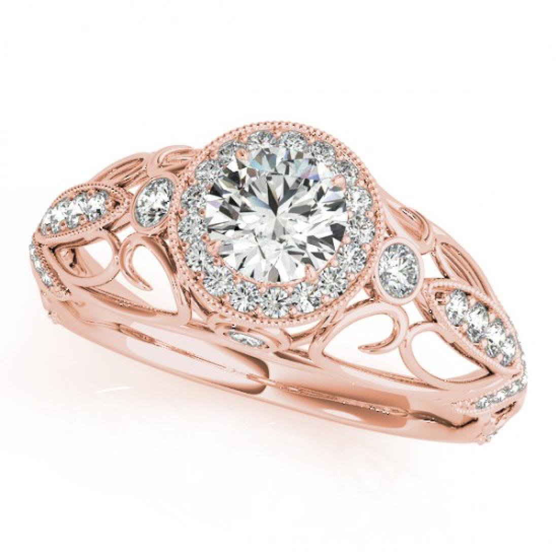 0.93 CTW Certified VS/SI Diamond Solitaire Antique Ring - 2