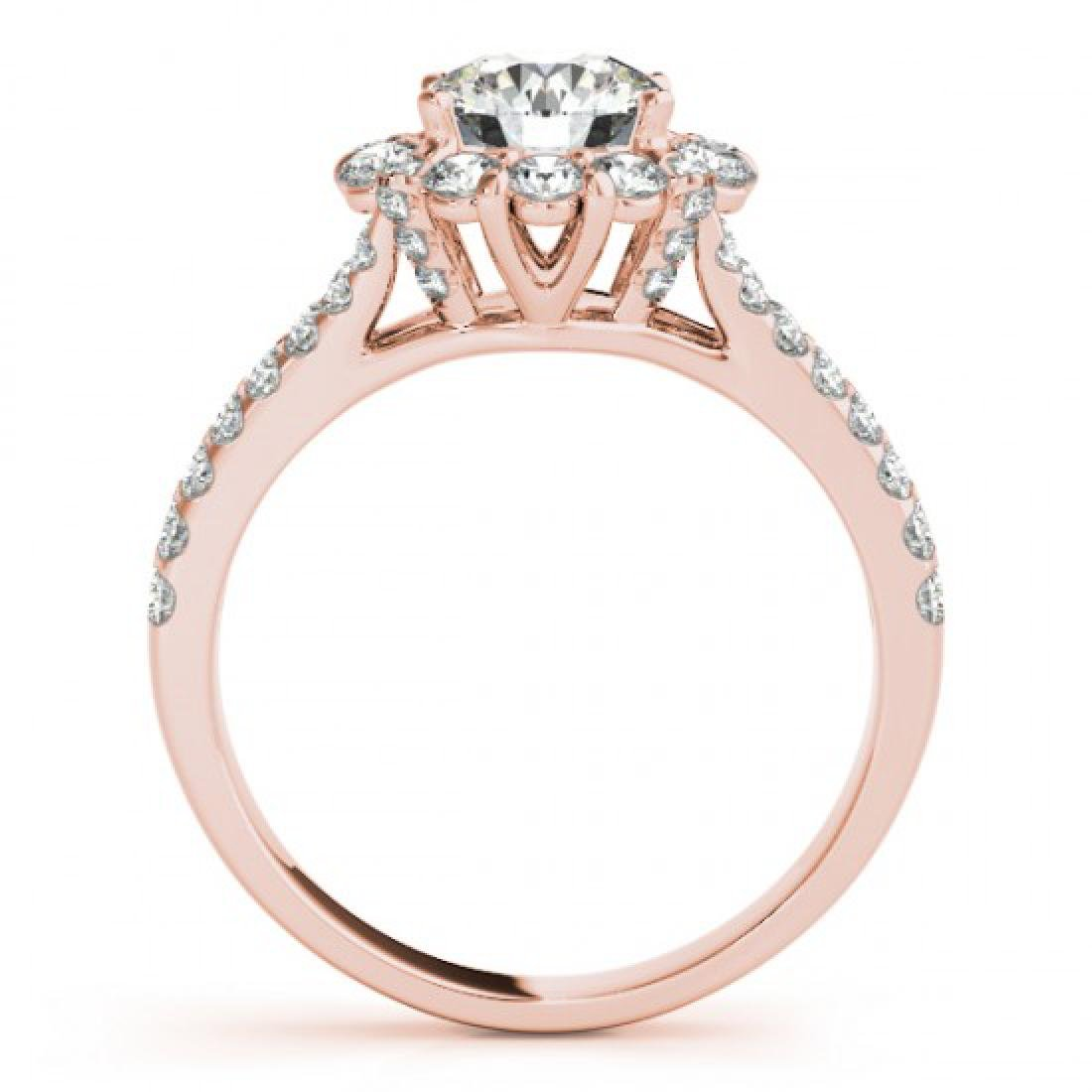 2.01 CTW Certified VS/SI Diamond Solitaire Halo Ring - 2
