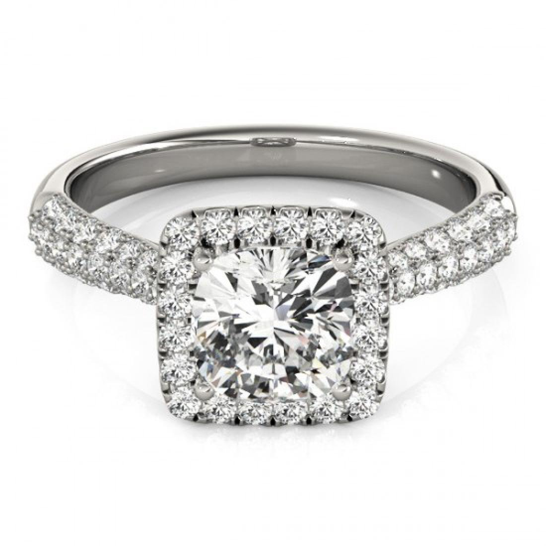 1 CTW Certified VS/SI Cushion Diamond Solitaire Halo