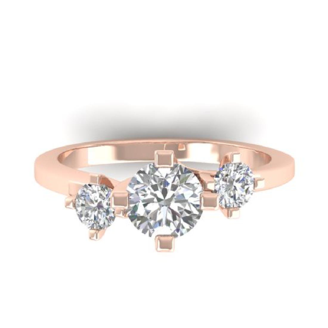 1.25 CTW Certified VS/SI Diamond Solitaire 3 Stone Ring