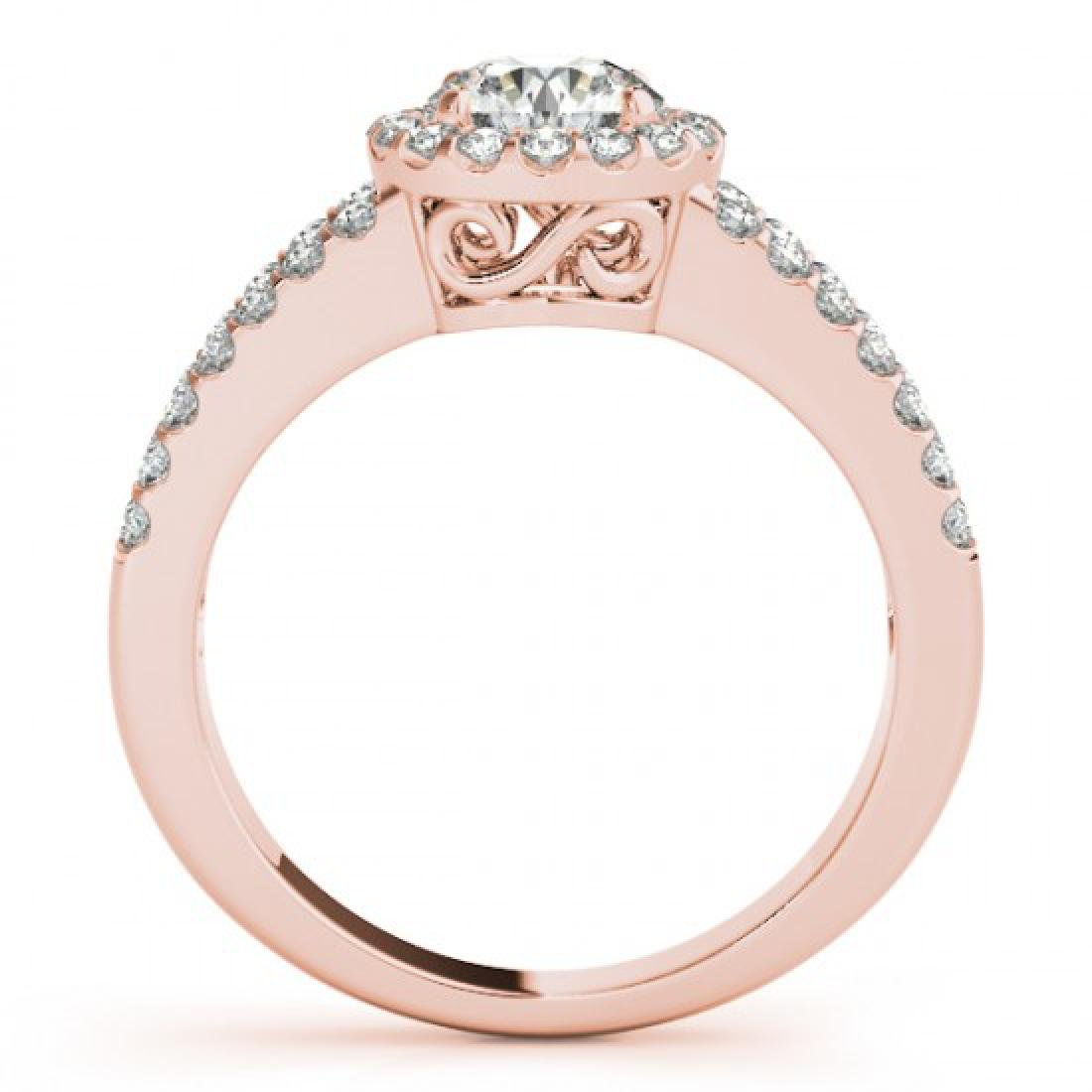 1.26 CTW Certified VS/SI Diamond Solitaire Halo Ring - 2