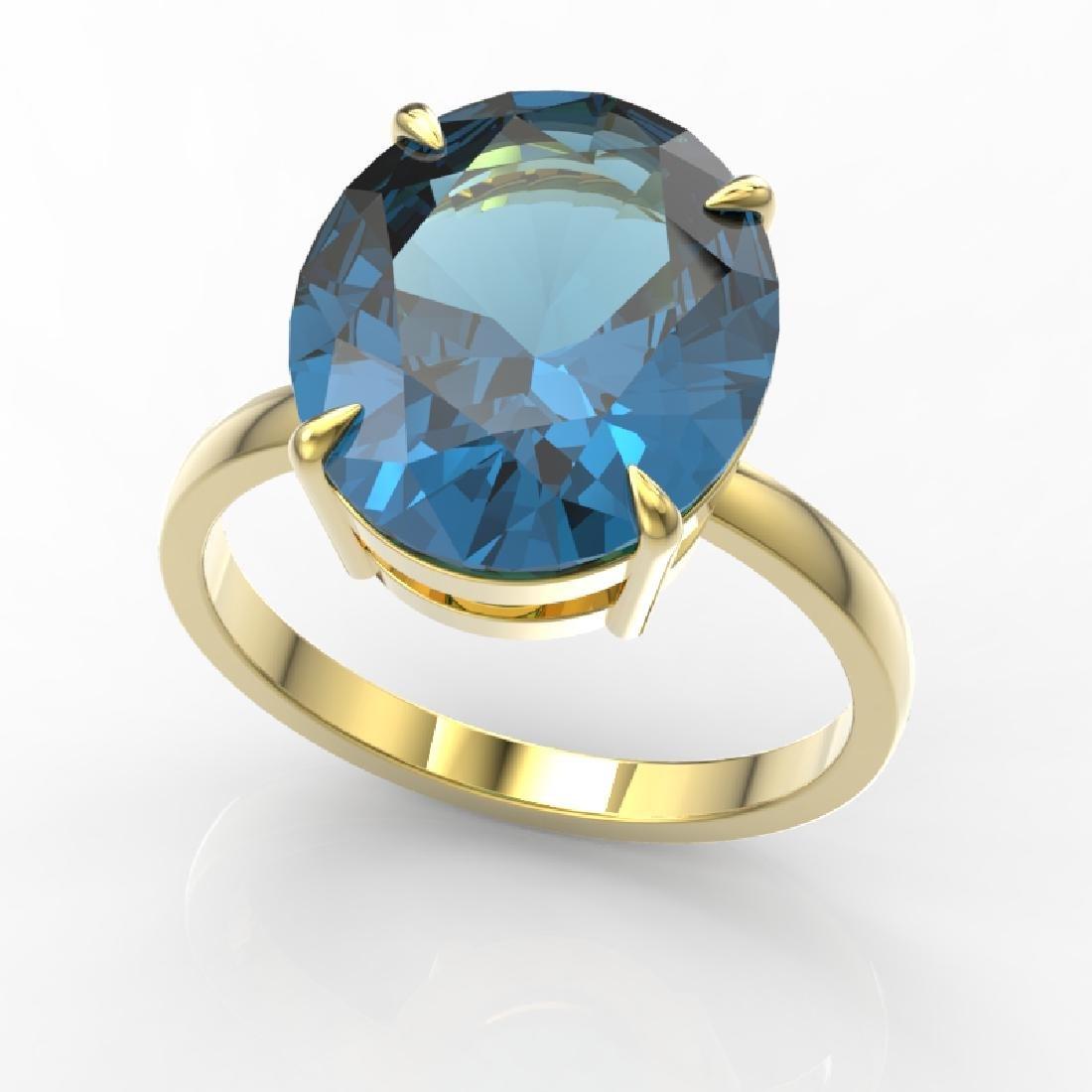 9 CTW London Blue Topaz Designer Solitaire Engagement - 2