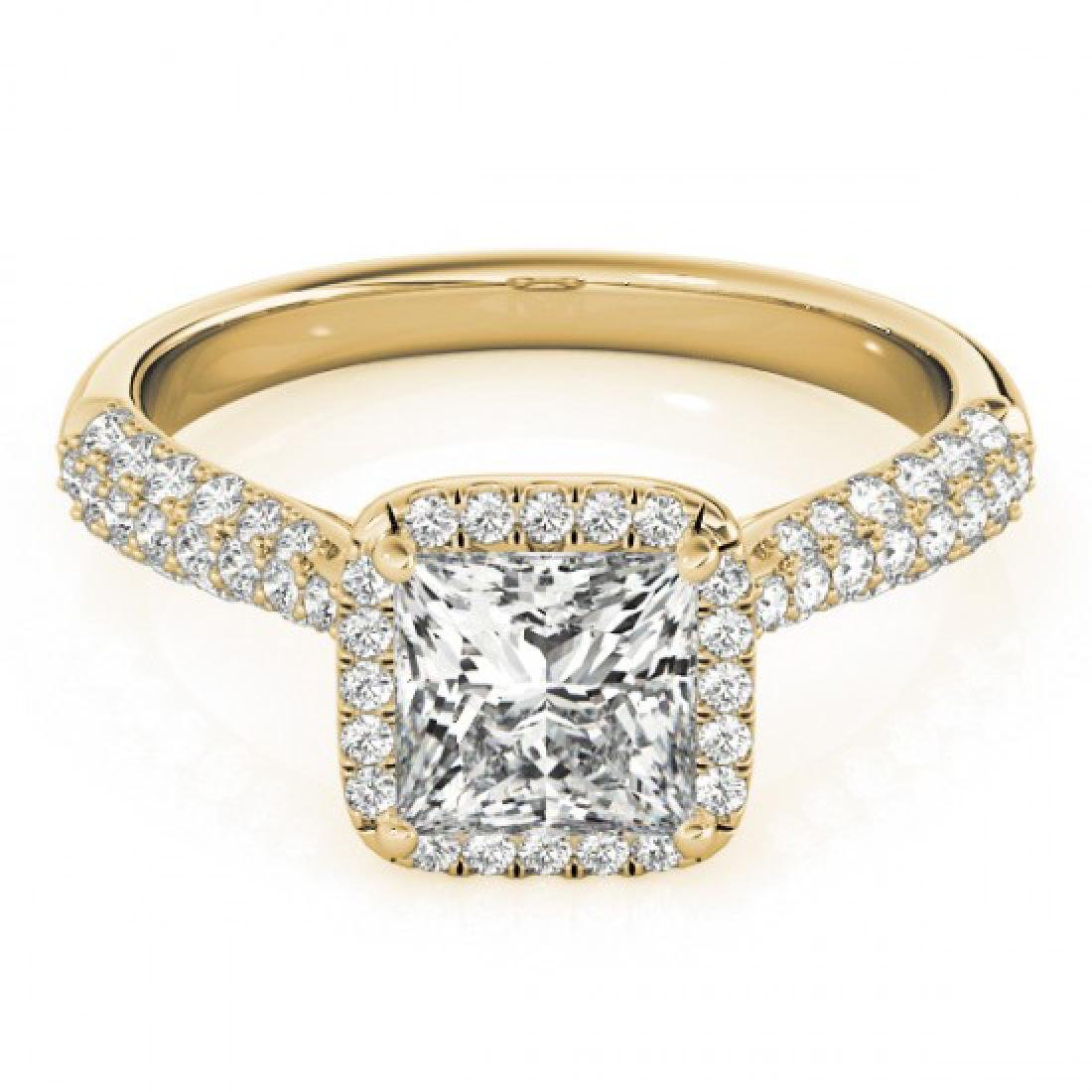 1.15 CTW Certified VS/SI Princess Diamond Solitaire