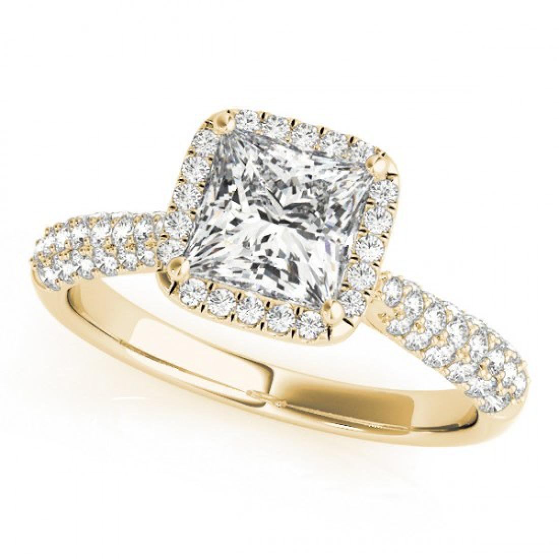 1.15 CTW Certified VS/SI Princess Diamond Solitaire - 2