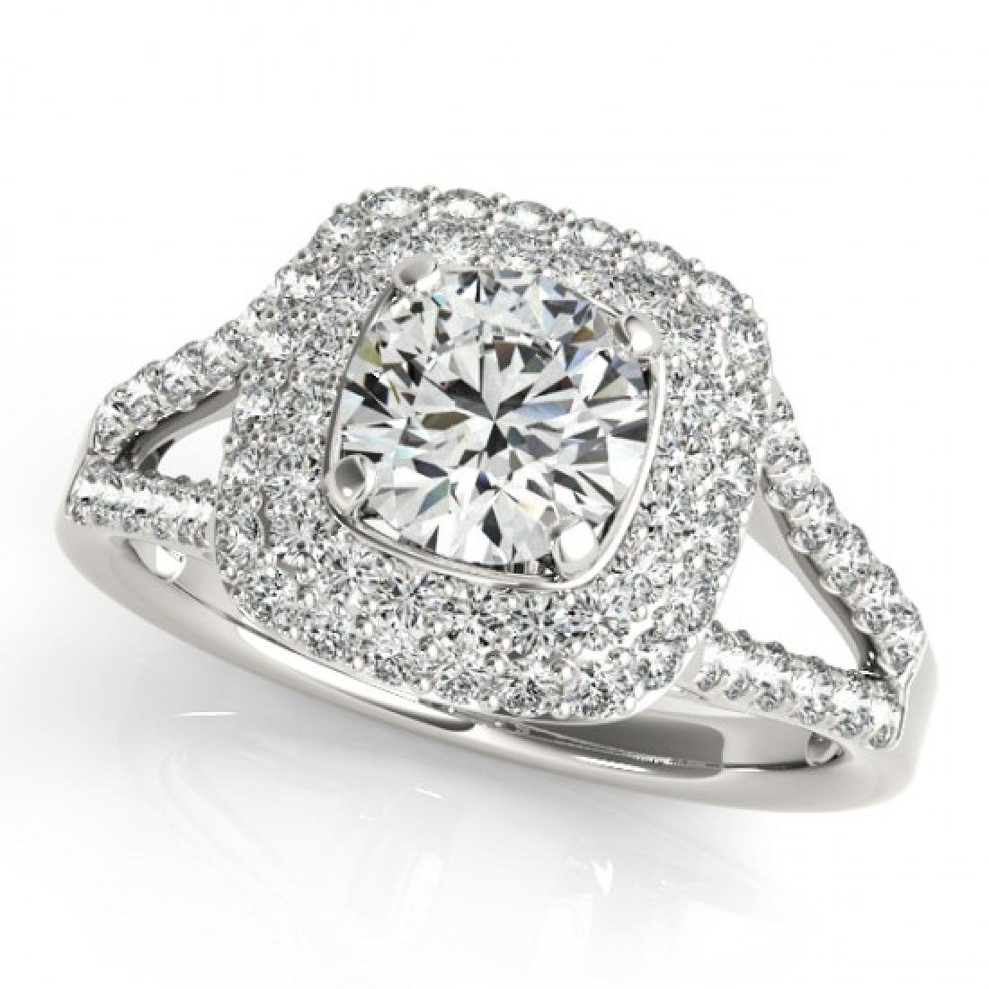1.53 CTW Certified VS/SI Diamond Solitaire Halo Ring