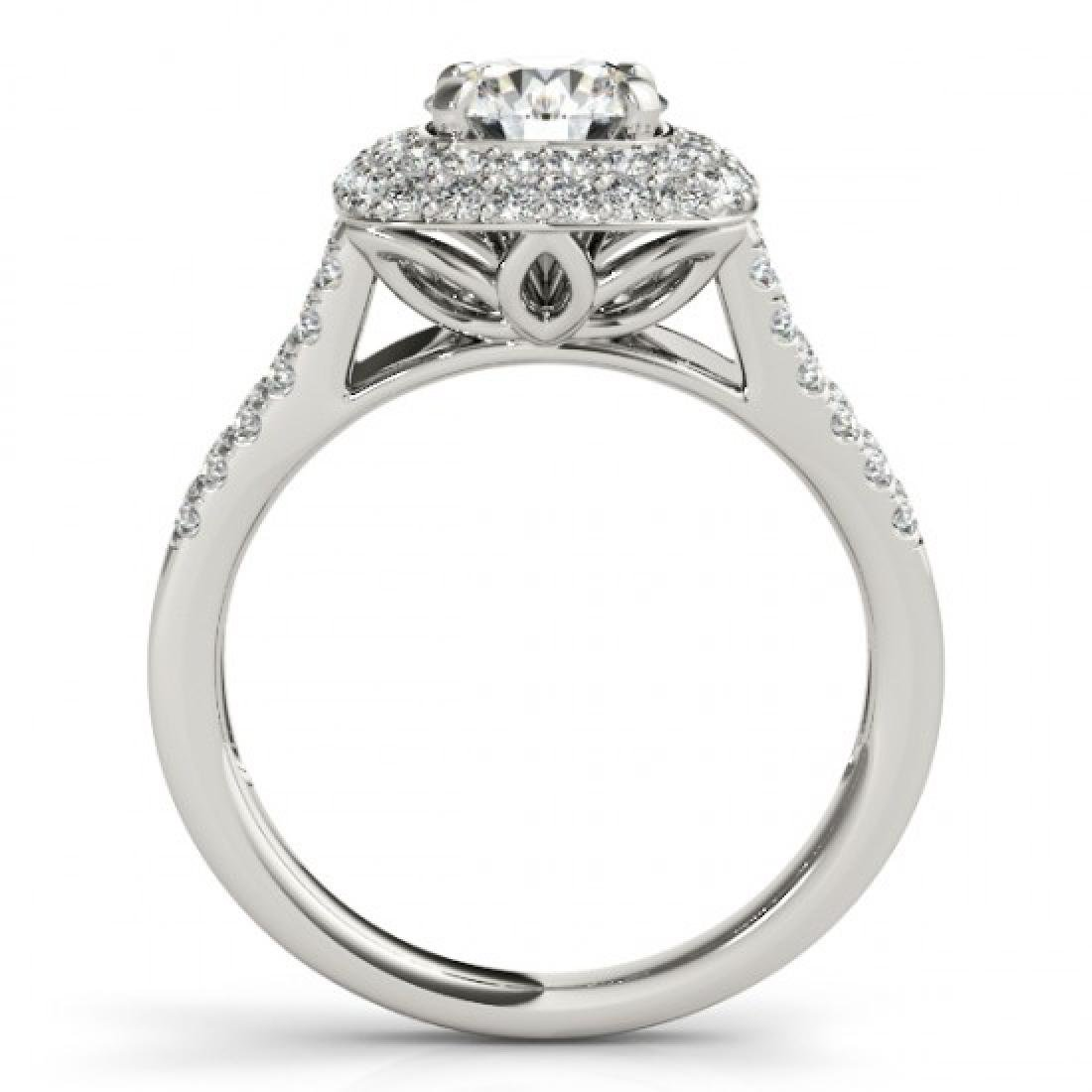 1.53 CTW Certified VS/SI Diamond Solitaire Halo Ring - 2