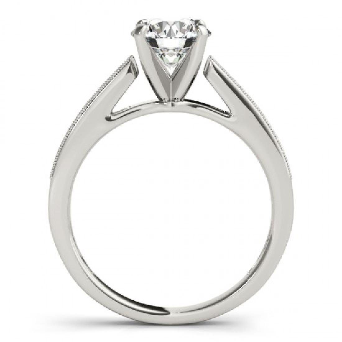 0.4 CTW Certified VS/SI Diamond Solitaire Ring 14K - 2