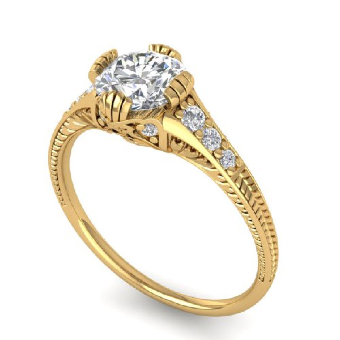 1.25 CTW Certified VS/SI Diamond Solitaire Art Deco - 2