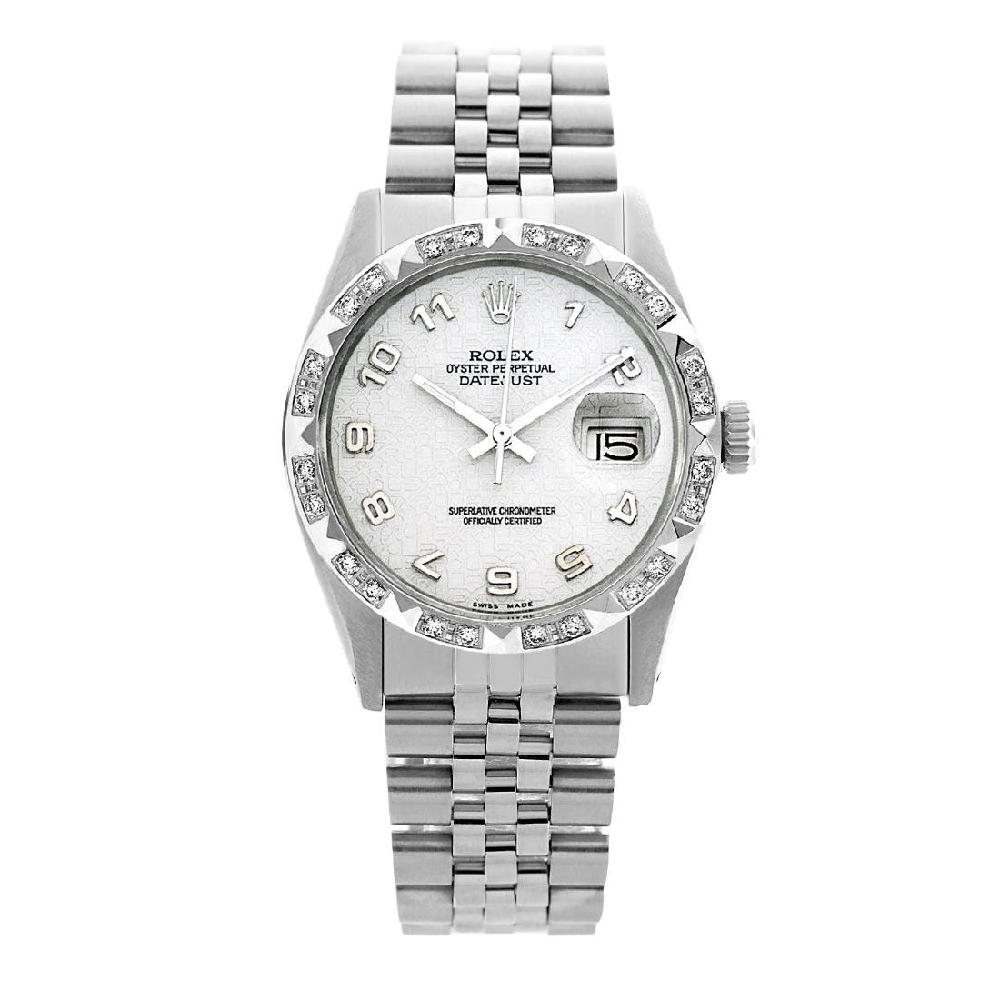 Rolex Ladies Stainless Steel, Arabic Dial with Pyrimid - 2