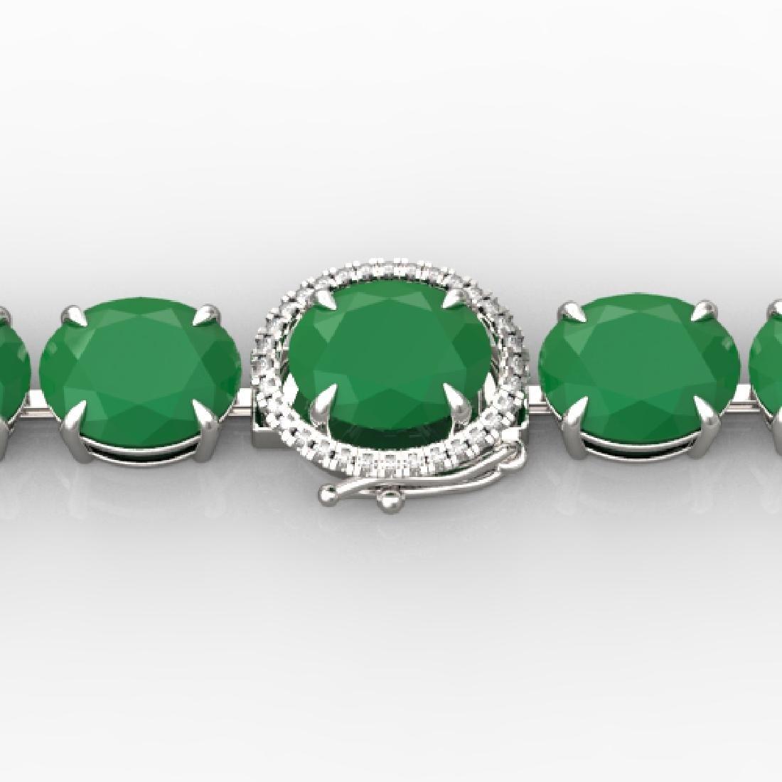 76 CTW Emerald & Micro VS/SI Diamond Halo Designer