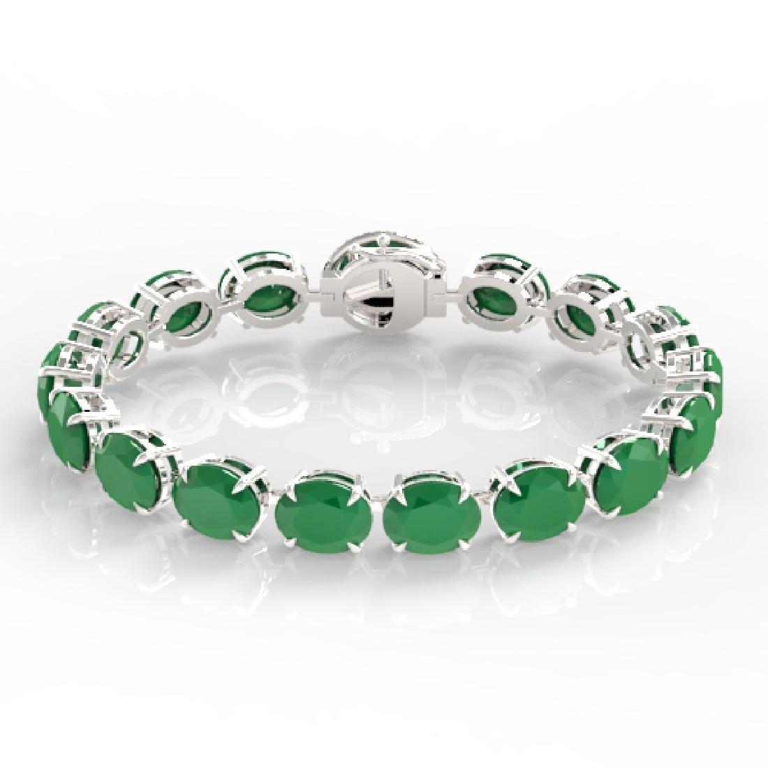76 CTW Emerald & Micro VS/SI Diamond Halo Designer - 2