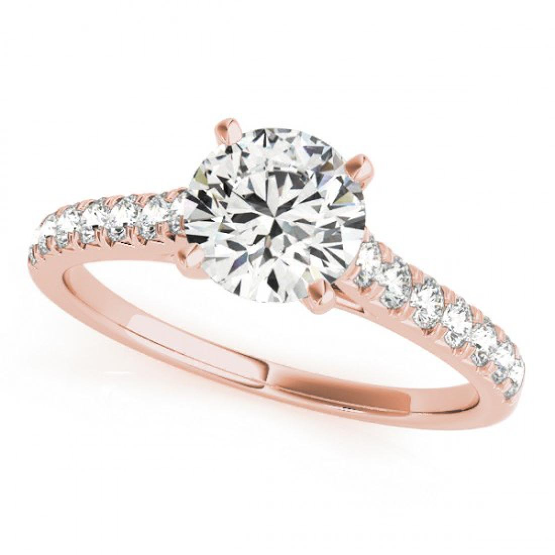 1.23 CTW Certified VS/SI Diamond Solitaire Ring 14K