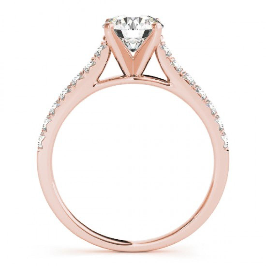 1.23 CTW Certified VS/SI Diamond Solitaire Ring 14K - 2