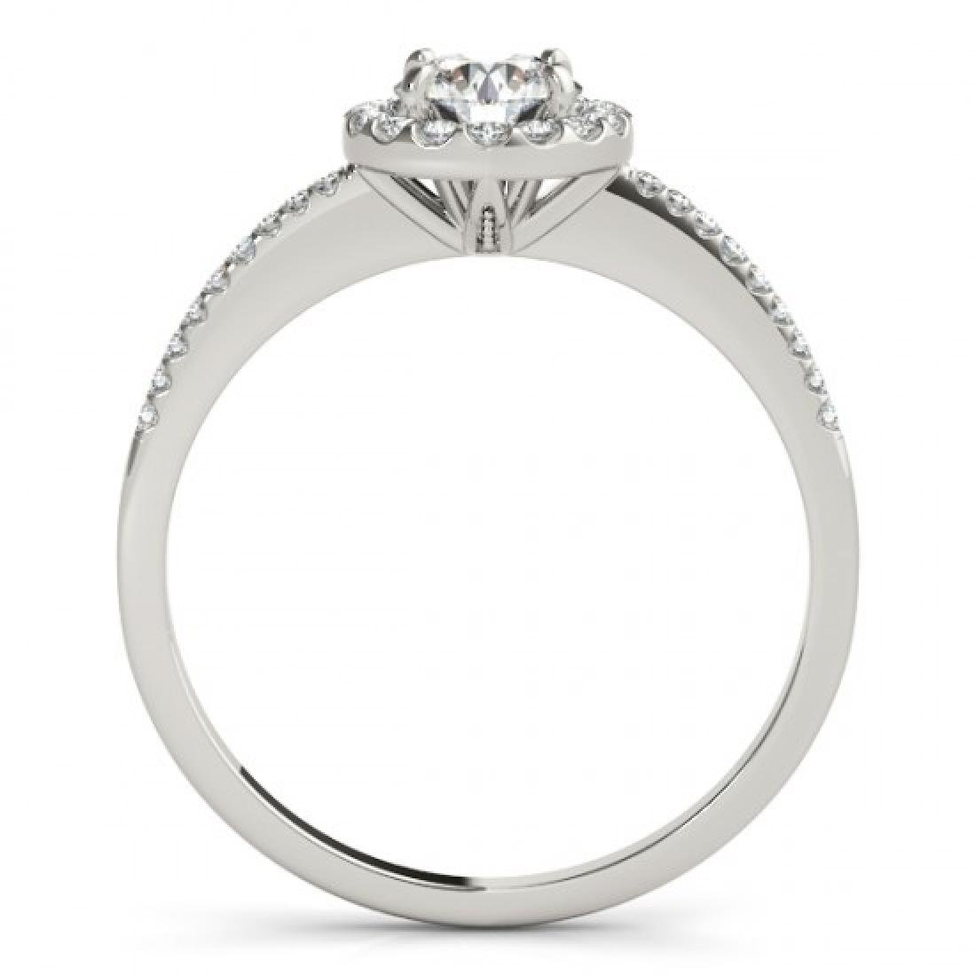 1.2 CTW Certified VS/SI Diamond Solitaire Halo Ring 14K - 2