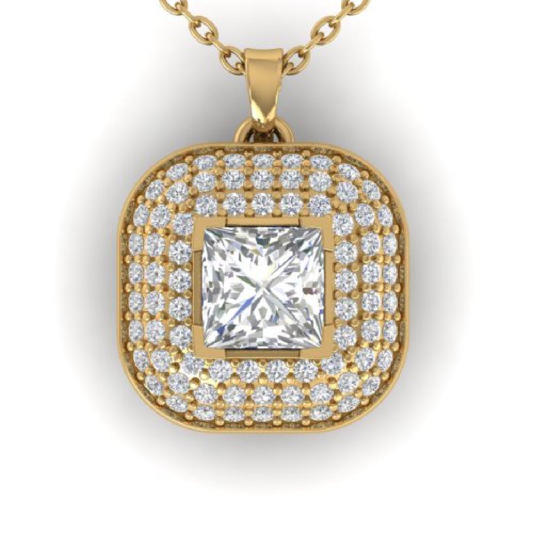 1.60 CTW Princess VS/SI Diamond Art Deco Stud Micro