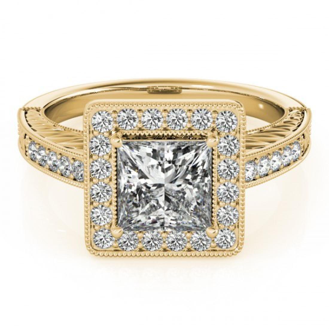 1.05 CTW Certified VS/SI Princess Diamond Solitaire
