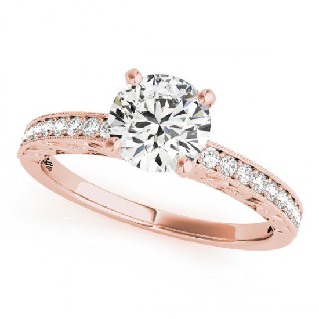 0.96 CTW Certified VS/SI Diamond Solitaire Antique Ring