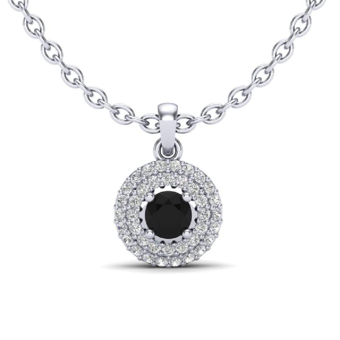 0.70 CTW Micro Pave VS/SI Diamond Designer Necklace 18K