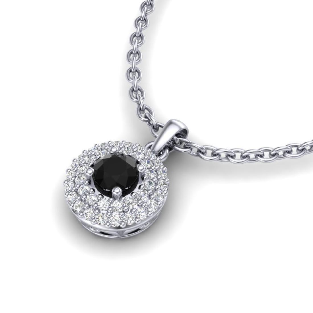 0.70 CTW Micro Pave VS/SI Diamond Designer Necklace 18K - 2