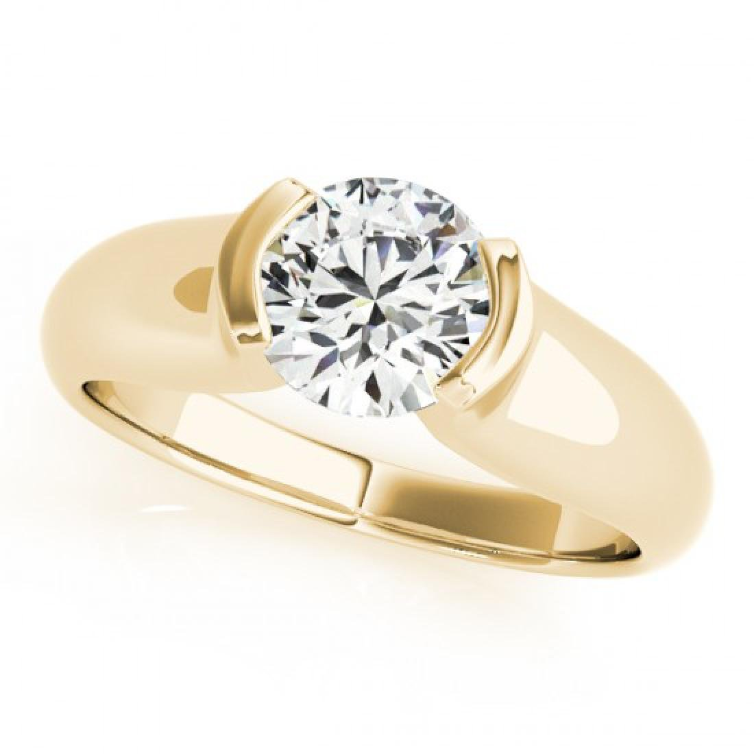 1 CTW Certified VS/SI Diamond Solitaire Ring 14K Yellow - 2