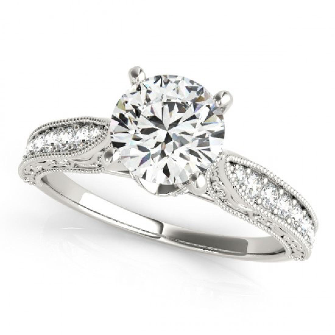 0.98 CTW Certified VS/SI Diamond Solitaire Antique Ring