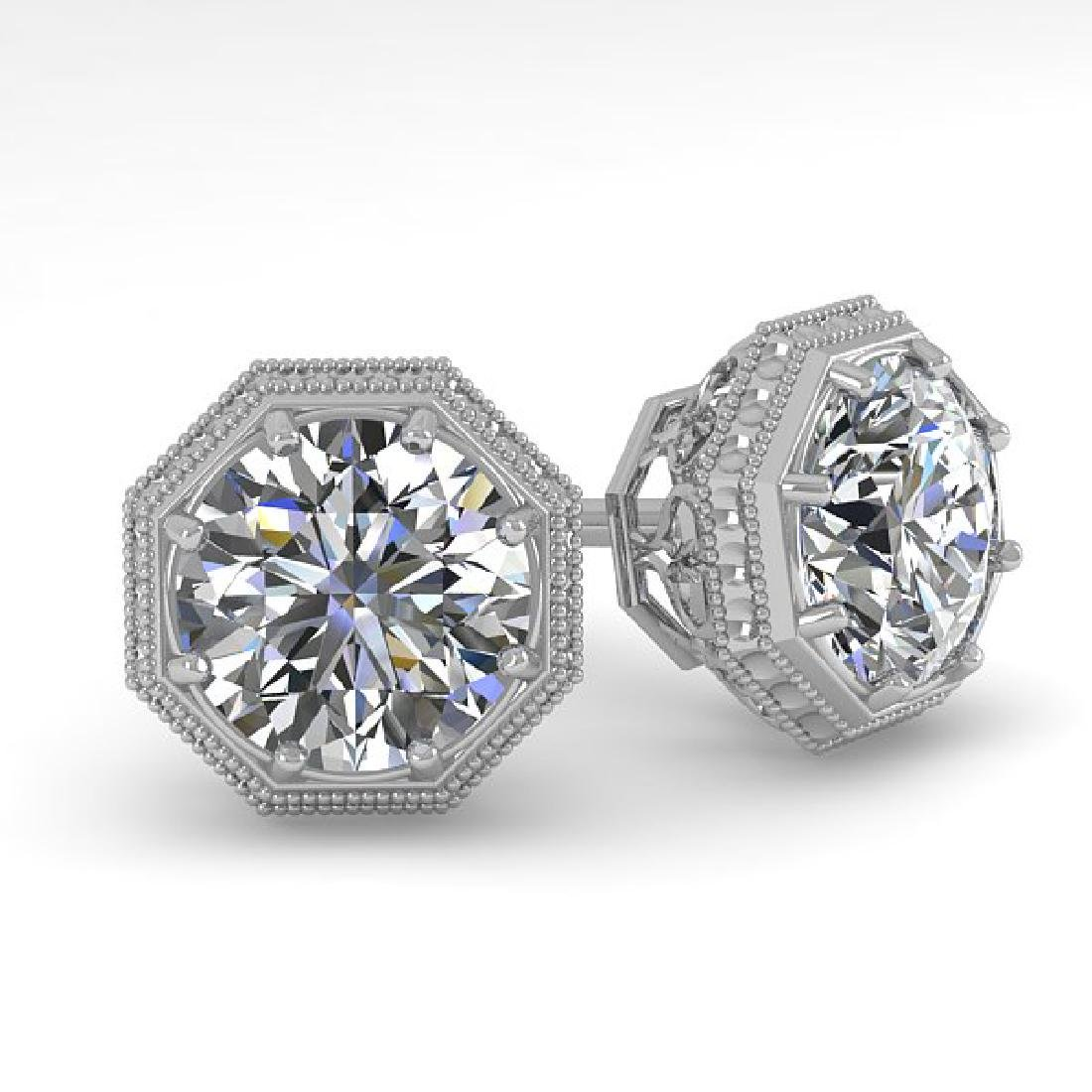 1.0 CTW VS/SI Diamond Stud Solitaire Earrings 14K White