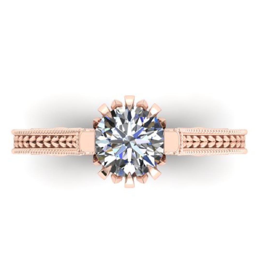 1 CTW Solitaire Certified VS/SI Diamond Ring 18K Rose