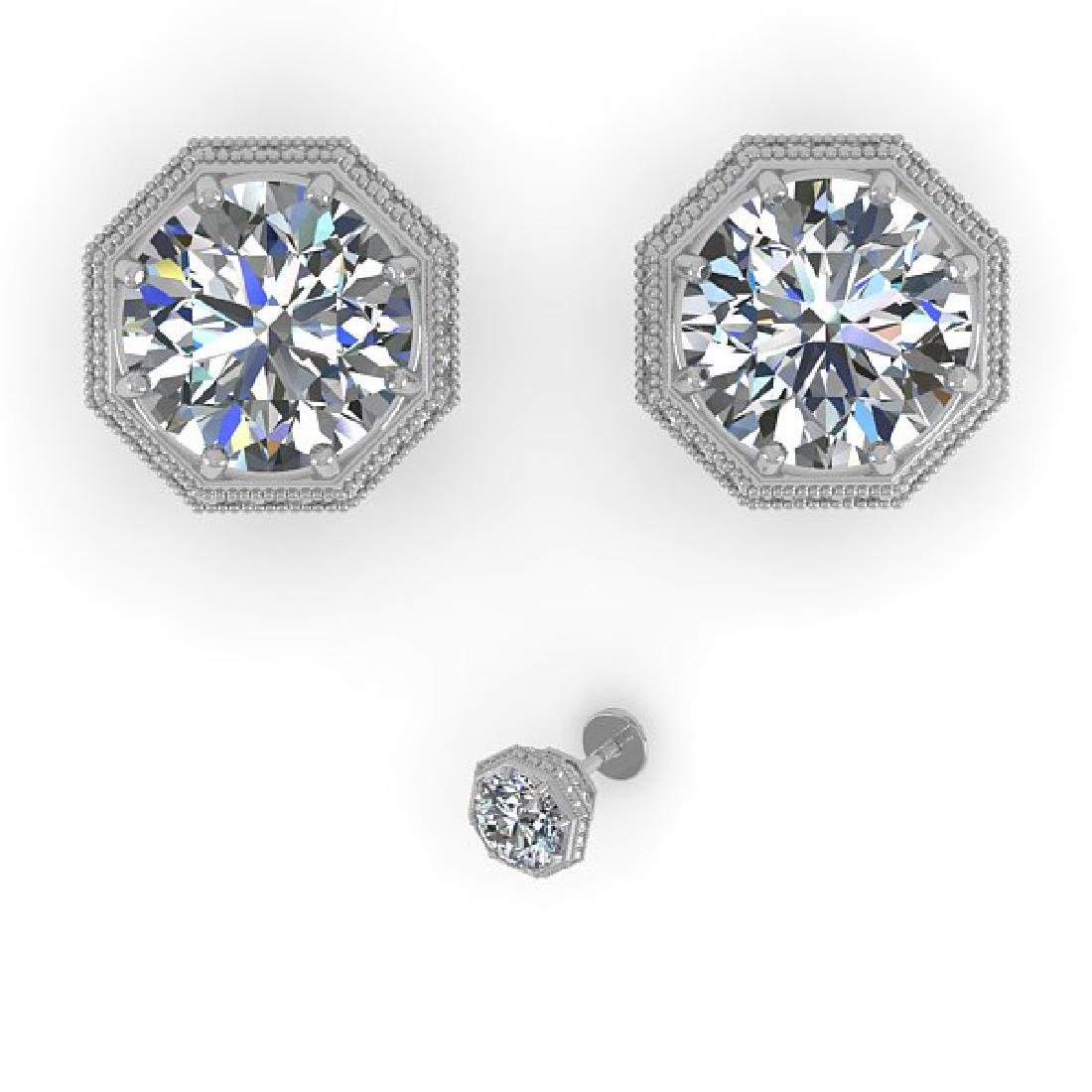 2.0 CTW VS/SI Diamond Stud Solitaire Earrings 14K White - 2