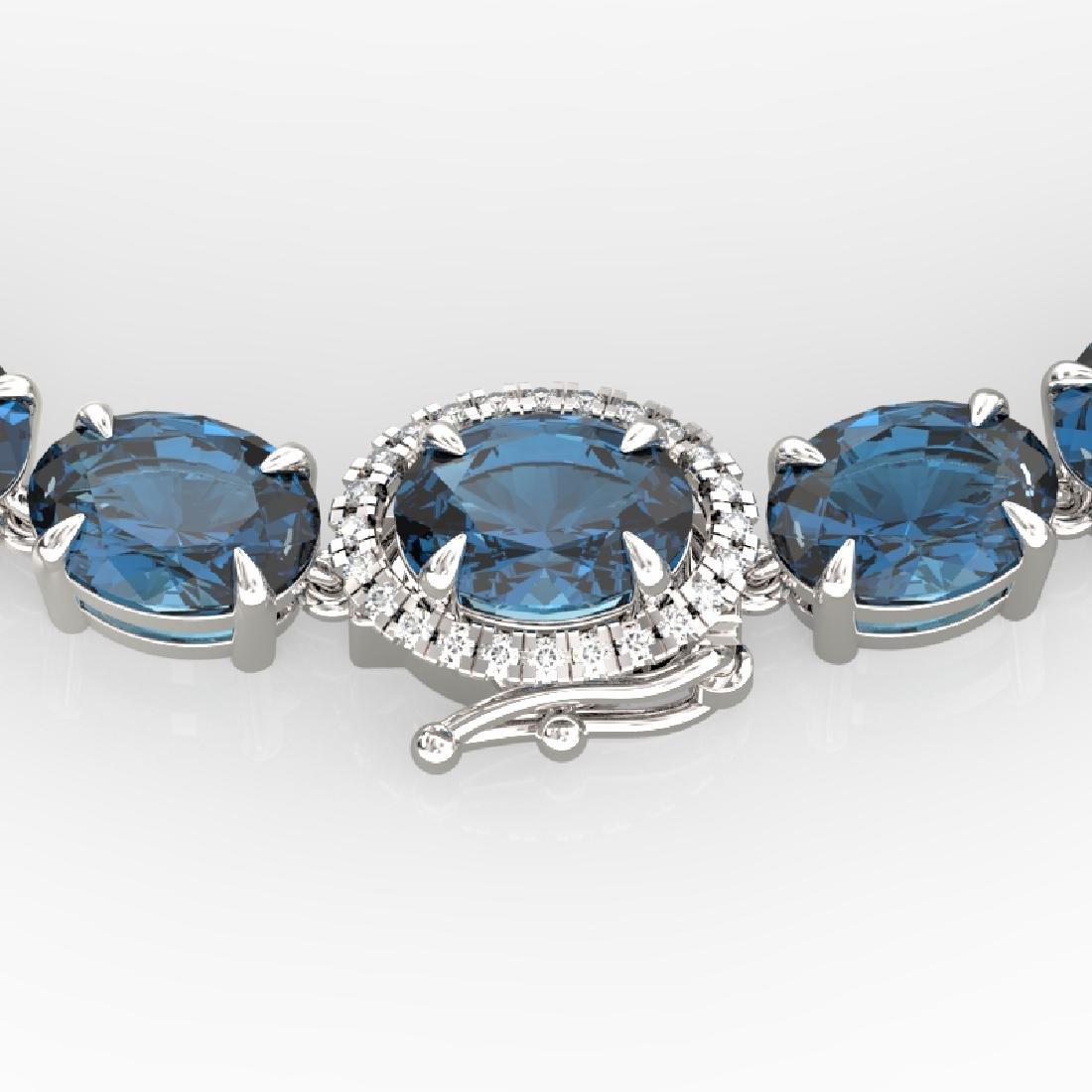90 CTW London Blue Topaz & VS/SI Diamond Tennis Micro