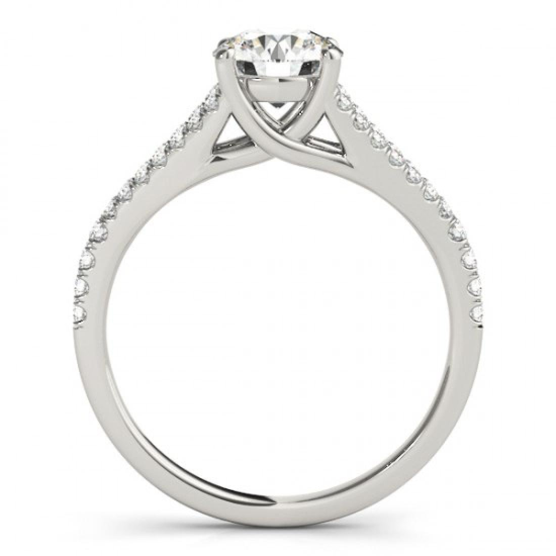 1 CTW Certified VS/SI Diamond Solitaire Ring 14K White - 2
