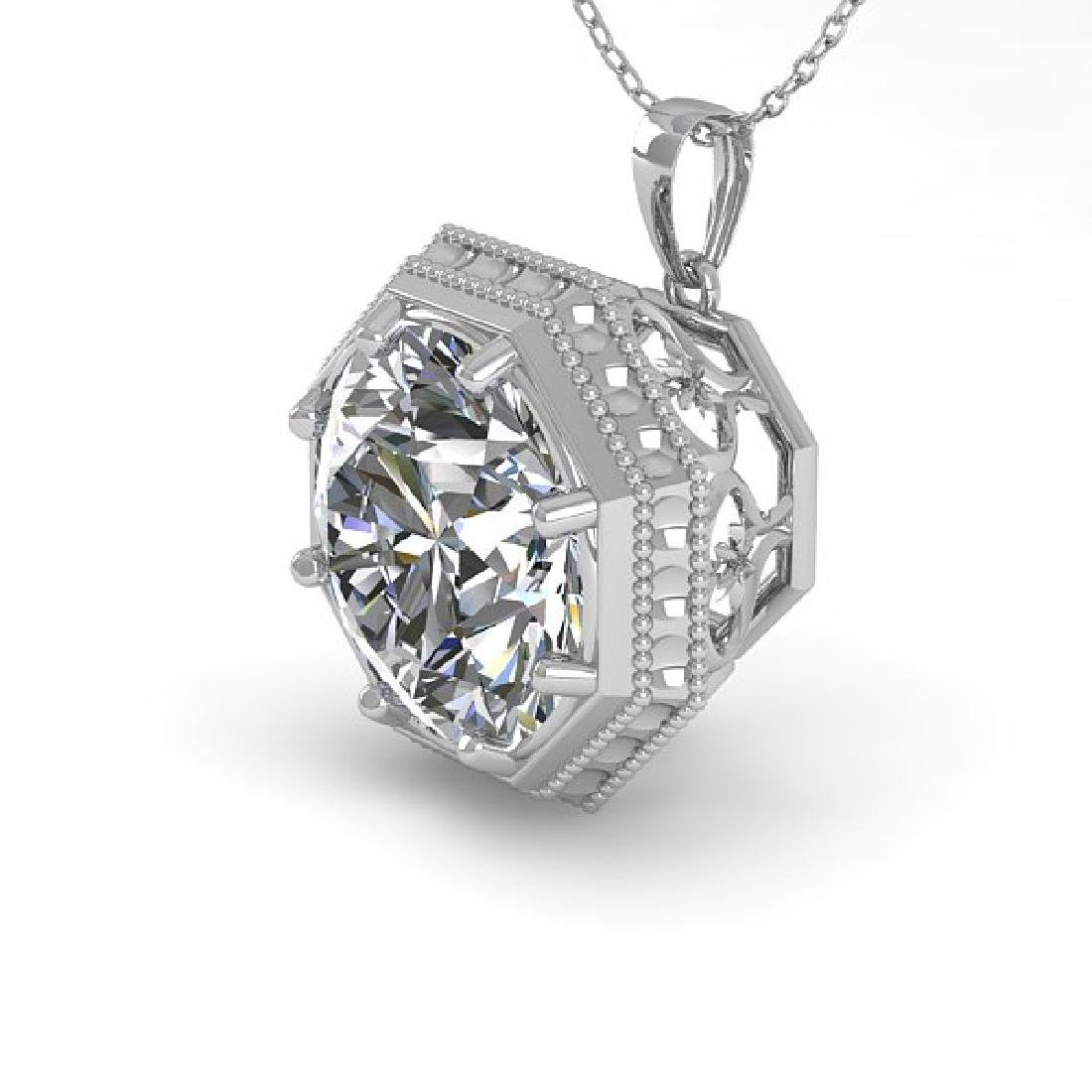 1.50 CTW VS/SI Diamond Solitaire Necklace 14K White
