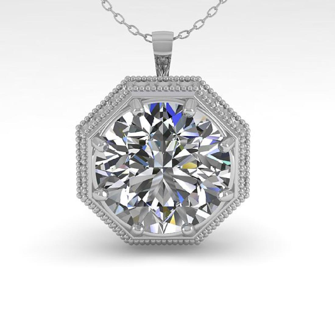 1.50 CTW VS/SI Diamond Solitaire Necklace 14K White - 2