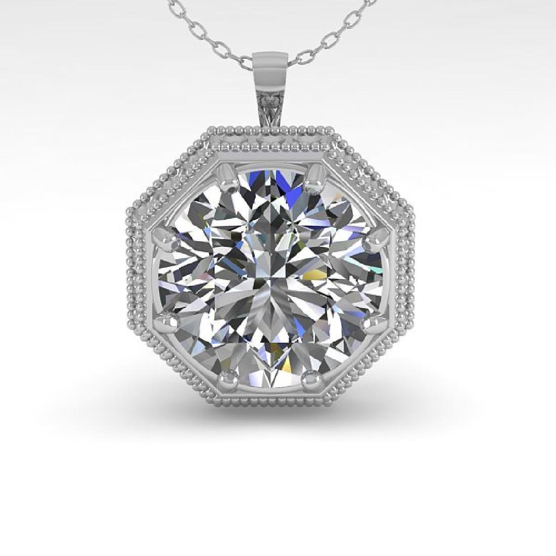 1.50 CTW VS/SI Diamond Solitaire Necklace 14K White - 2