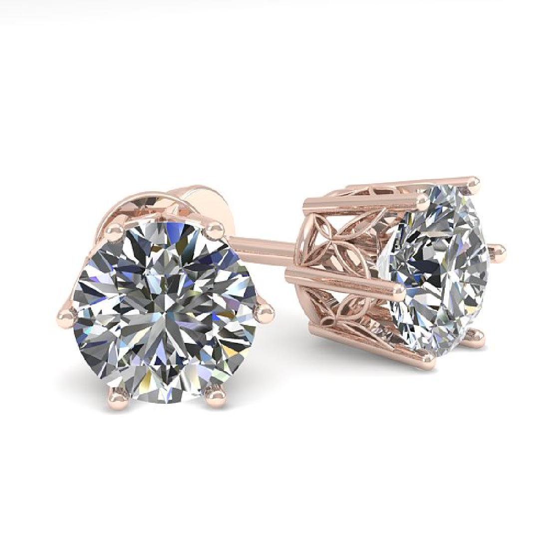 1.55 CTW Certified VS/SI Diamond Stud Art Deco Earrings