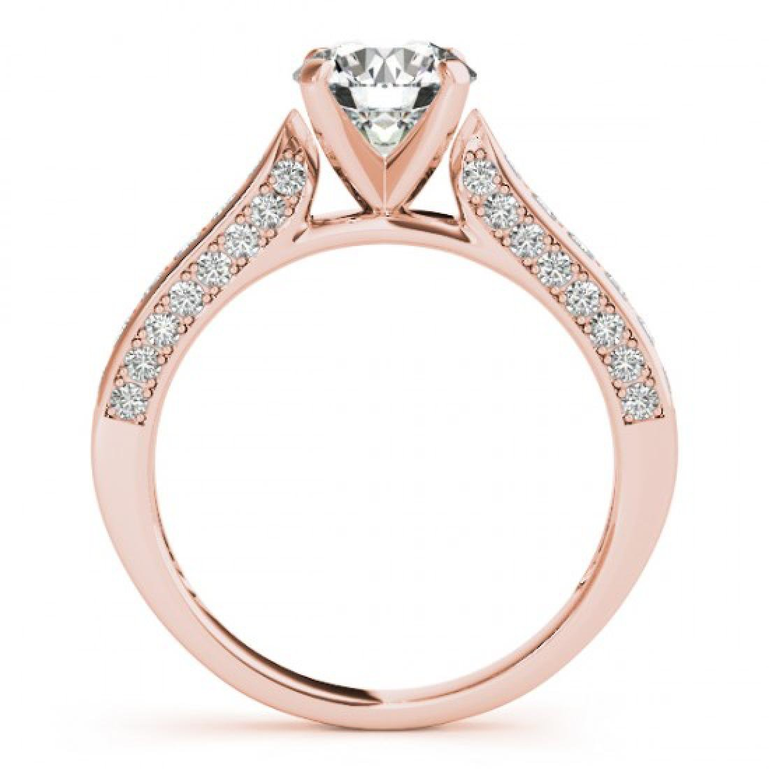 1.6 CTW Certified VS/SI Diamond Solitaire Ring 14K Rose - 2