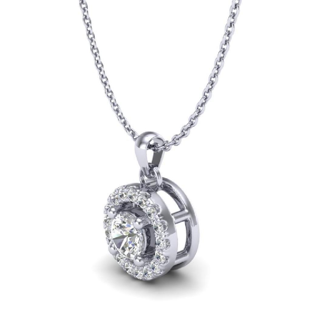 0.33 CTW VS/SI Diamond Micro Pave Necklace Solitaire - 2