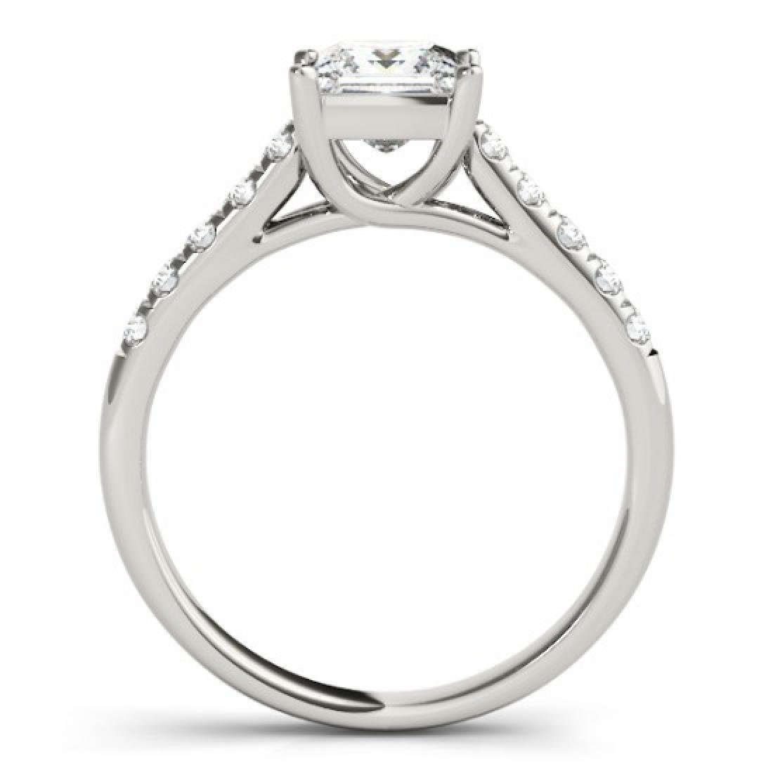 1.3 CTW Certified VS/SI Princess Diamond Ring 14K White - 2