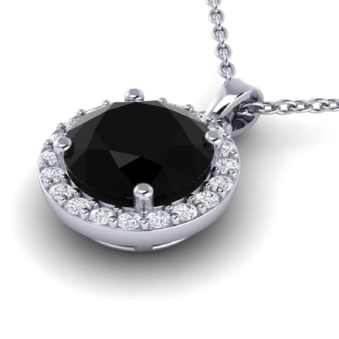 2 CTW Halo VS/SI Diamond Micro Pave Necklace 18K White