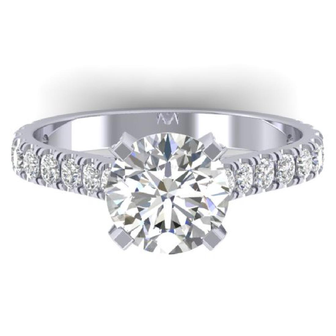 2.4 CTW Certified VS/SI Diamond Solitaire Art Deco Ring