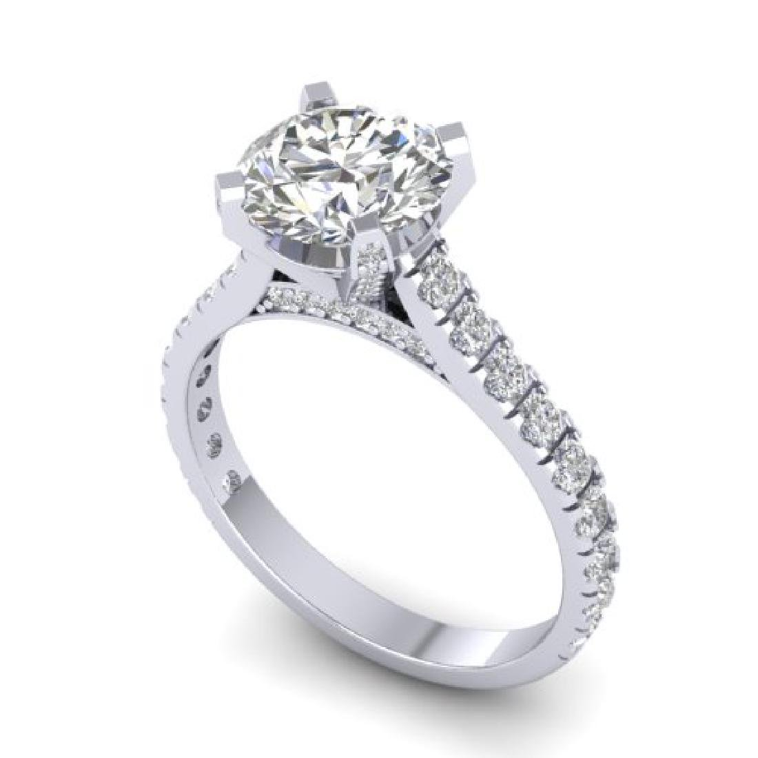 2.4 CTW Certified VS/SI Diamond Solitaire Art Deco Ring - 2