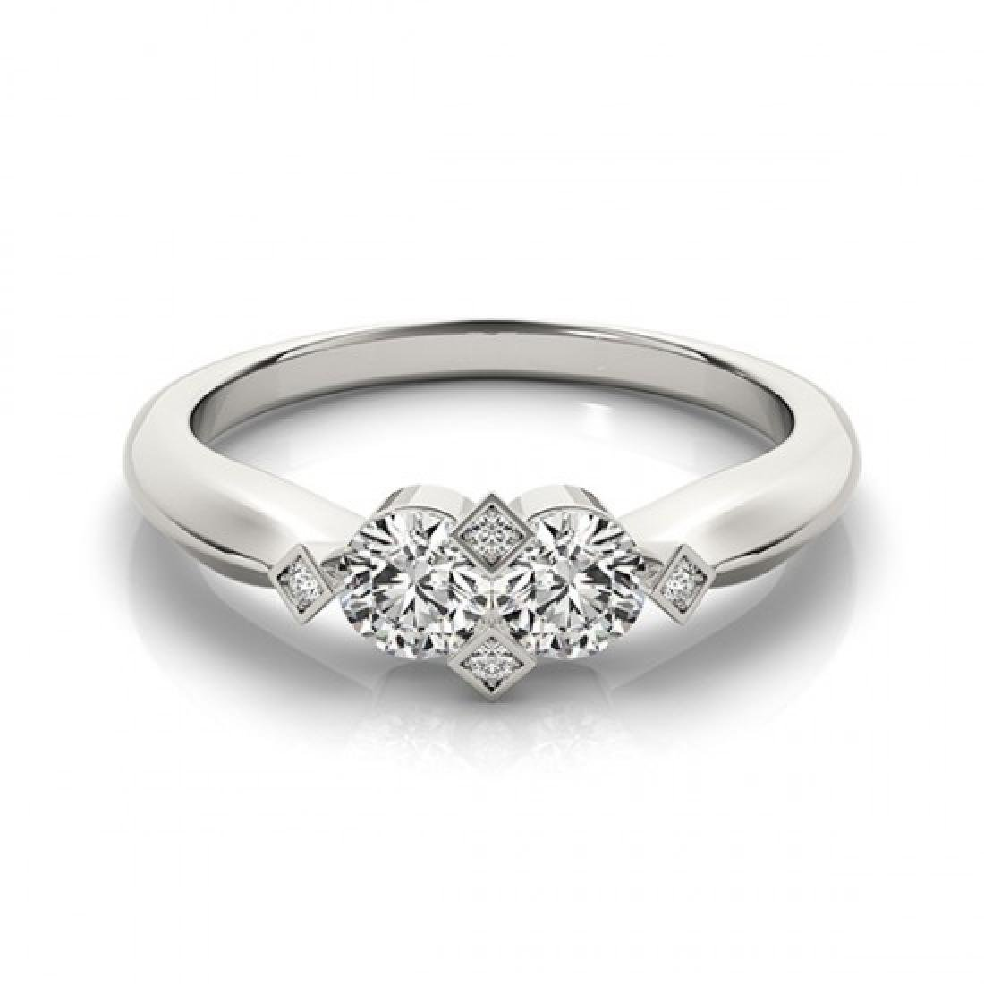 1.1 CTW Certified VS/SI Diamond 2 Stone 2 Stone Ring