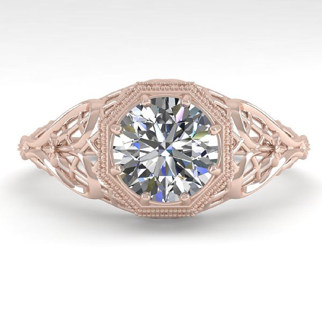 1.0 CTW VS/SI Diamond Solitaire Ring 14K Rose Gold