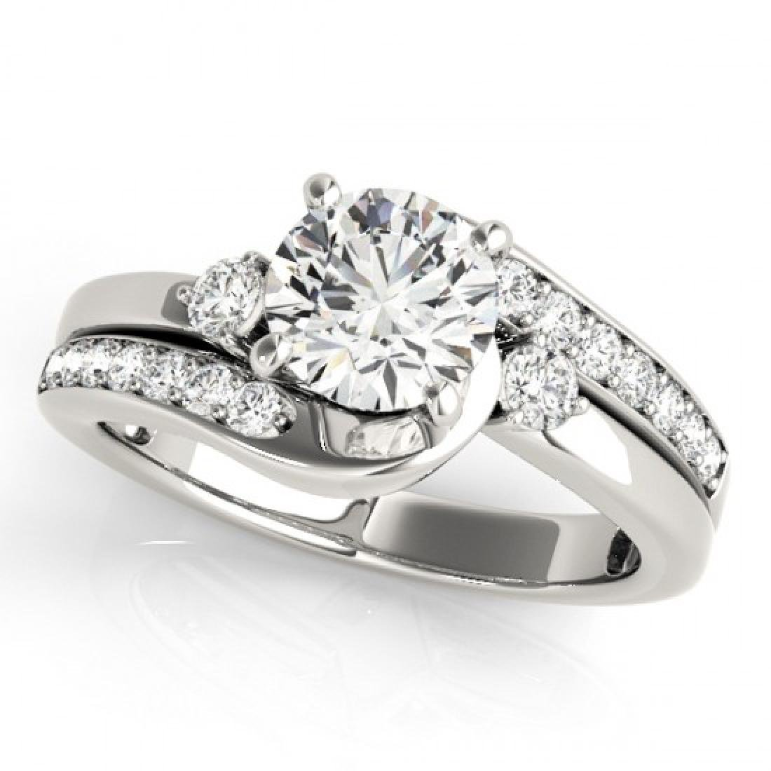 2 CTW Certified VS/SI Diamond Bypass Solitaire Ring 14K