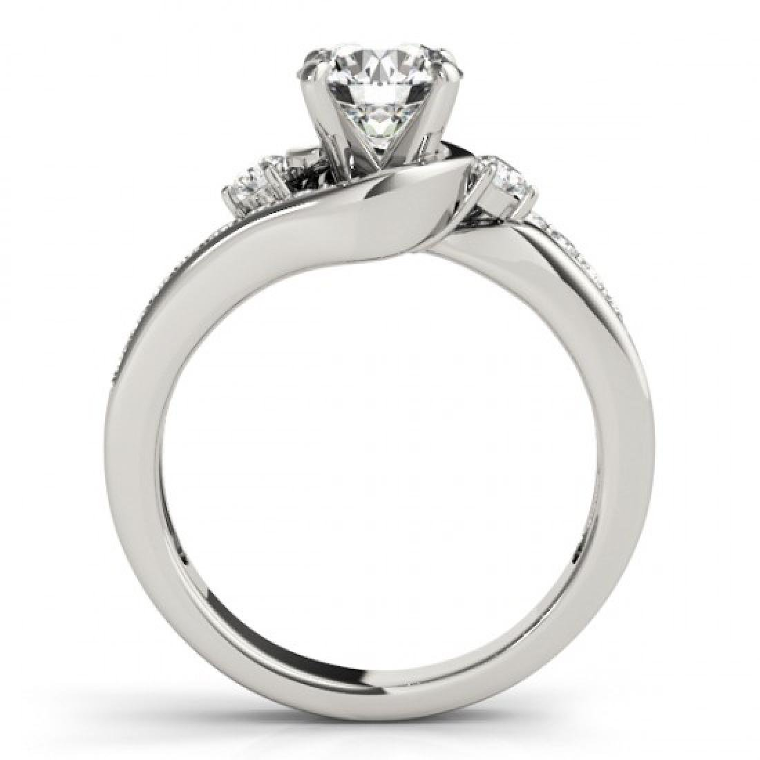 2 CTW Certified VS/SI Diamond Bypass Solitaire Ring 14K - 2